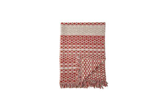 Noilhan plaid in cotone riciclato rosso
