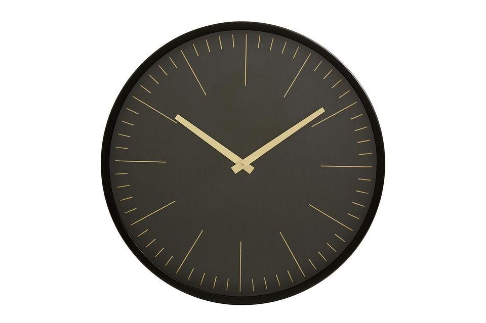 Per questo orologio da parete, il marchio Nordal ha optato per la grafica