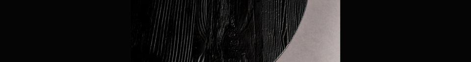Materiali prima di tutto Peper Tavolino nero 45 centimetri