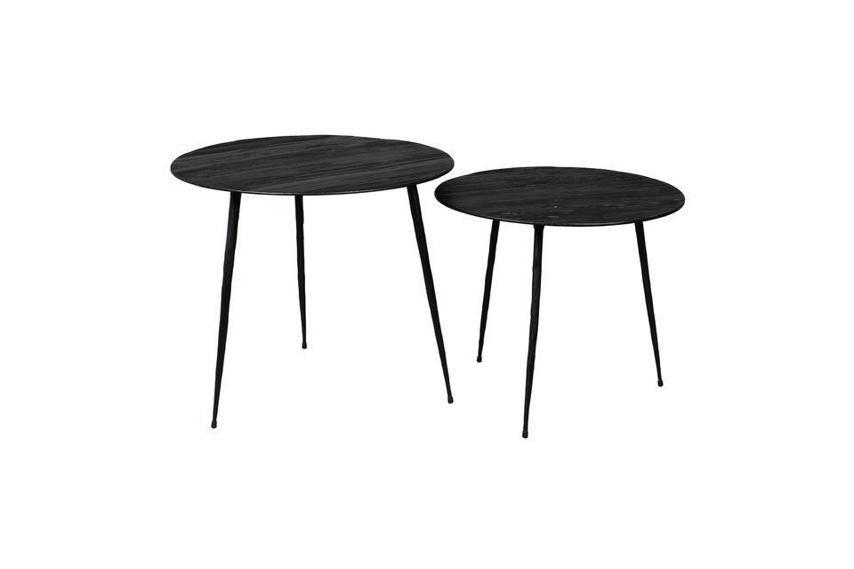 Peper Tavolino nero 45 centimetri - 5