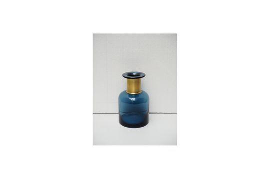 Pharmacie vaso per bottiglie blu con collo dorato