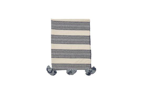 Plaid di cotone grigio Foto ritagliata