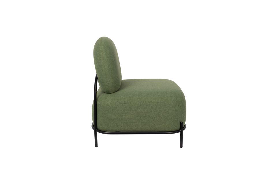 La seduta è di un elegante colore verde