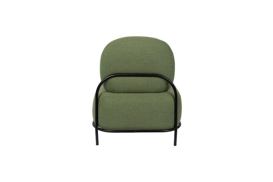 Polly green lounge chair - 8