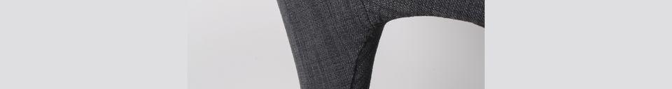 Materiali prima di tutto Poltrona Flexback nera e grigio scuro