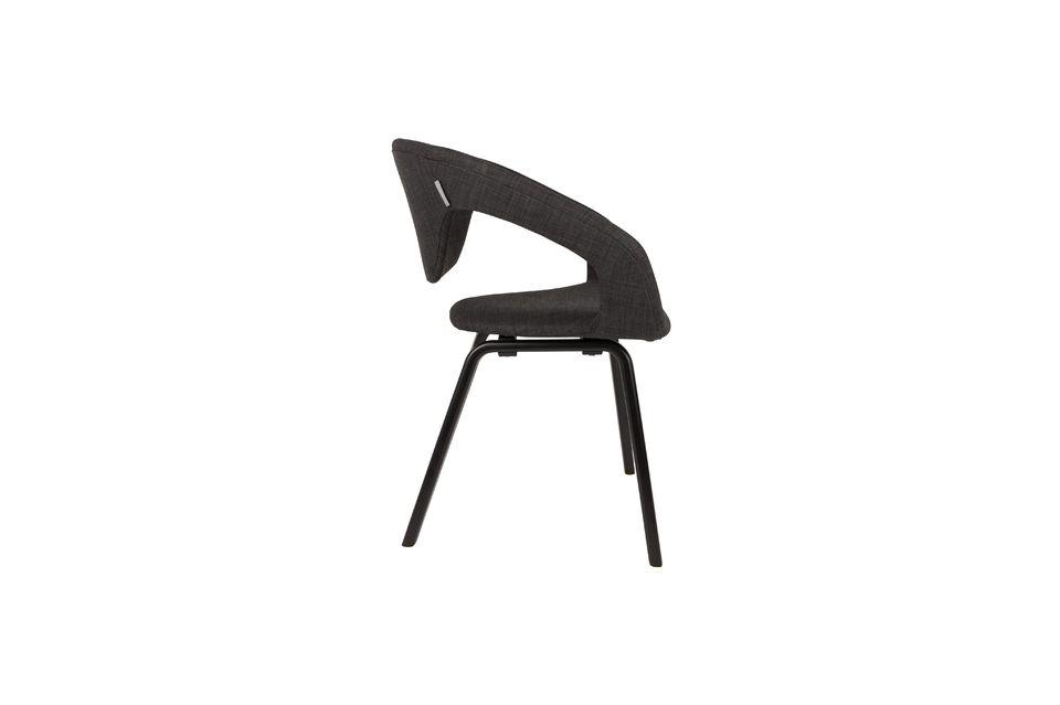 Poltrona Flexback nera e grigio scuro - 6
