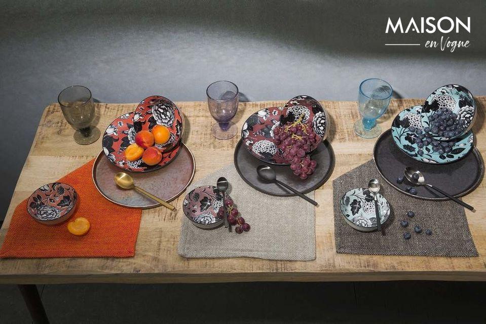 Piatto cena Porcelino Experience nero