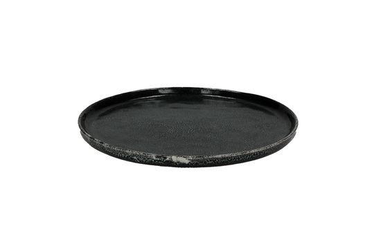 Porcelino Experience piatto da dessert nero Foto ritagliata