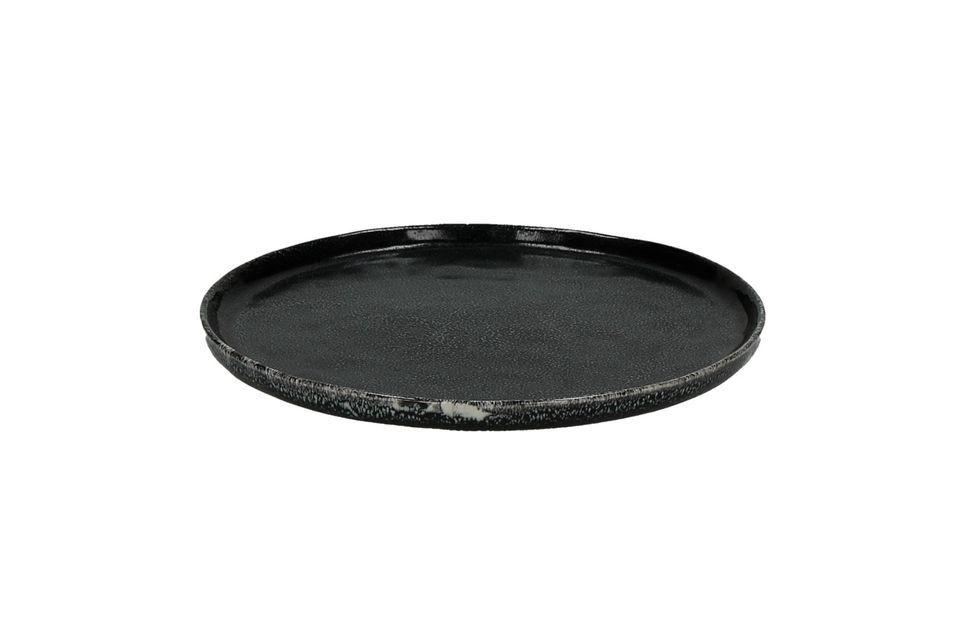 Porcelino Experience piatto da dessert nero Pomax
