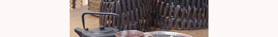 Materiali prima di tutto Porcelino Experience piatto da dessert nero