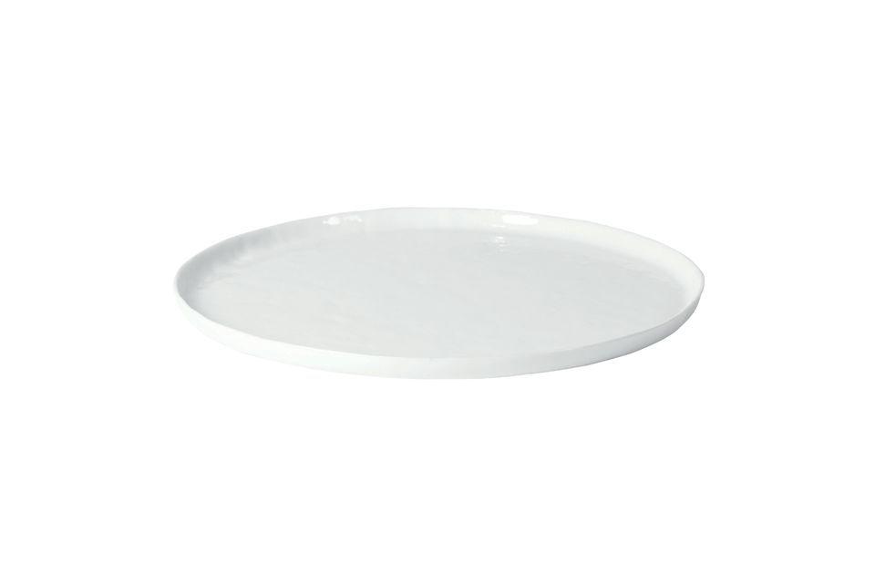 Porcelino piastra di servizio bianca Pomax