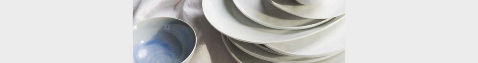 Materiali prima di tutto Porcelino piatto da dessert bianco