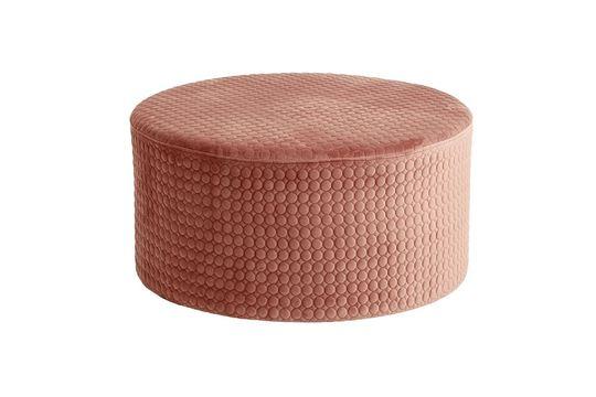 Rhonda pouf rotondo in velluto rosa
