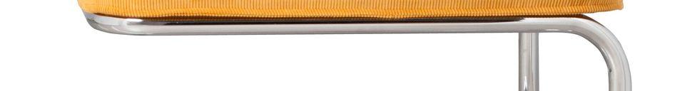 Materiali prima di tutto Ridge Rib pouf giallo