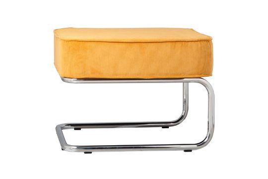 Ridge Rib pouf giallo Foto ritagliata