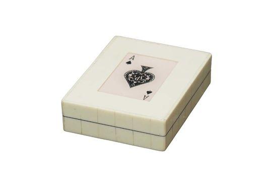 Scatola bianca 2 mazzi di asso di picche