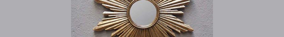 Materiali prima di tutto Segrois Specchio solare in resina dorata