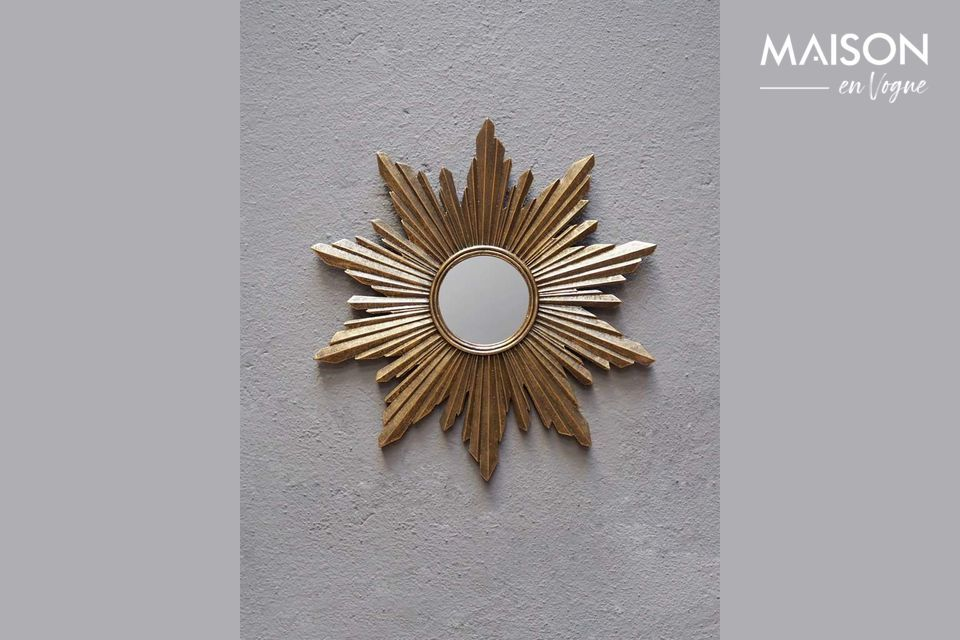 Segrois Specchio solare in resina dorata