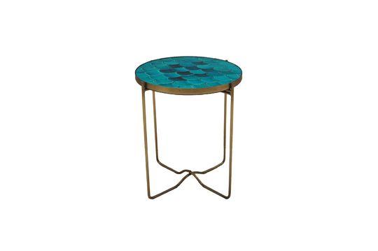 Séguret Tavolino a scaglie in ceramica blu Foto ritagliata