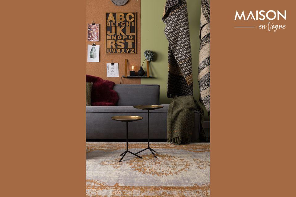 Serie di 2 Trip tavolini in ottone Zuiver
