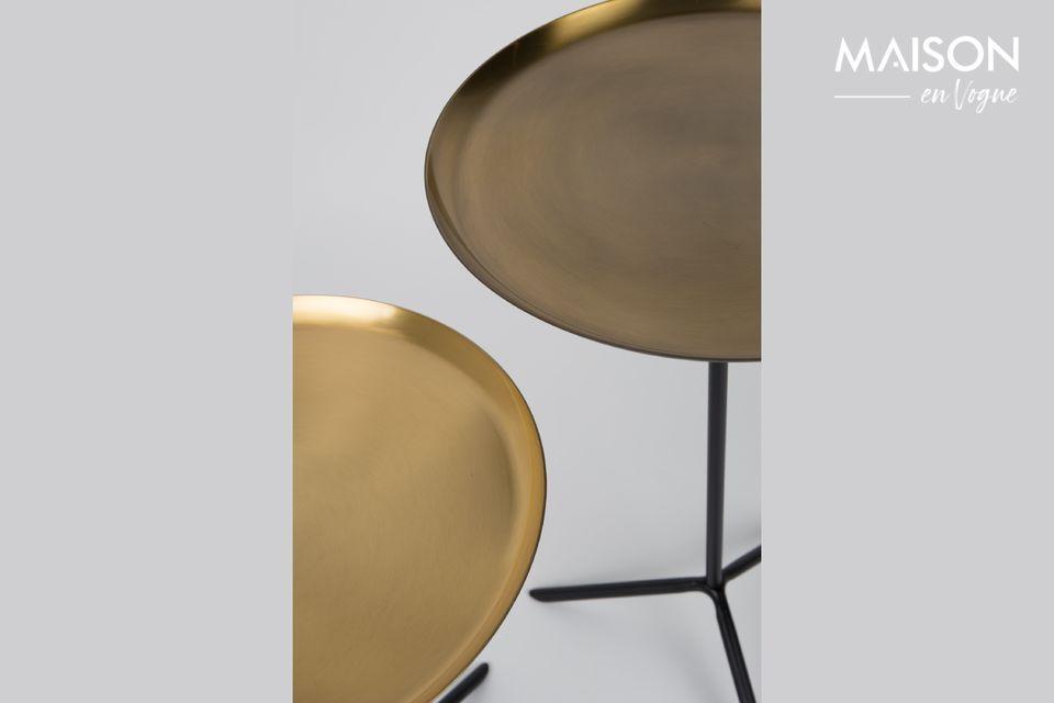 Serie di 2 Trip tavolini in ottone - 5