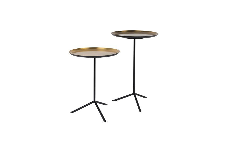 Serie di 2 Trip tavolini in ottone - 6