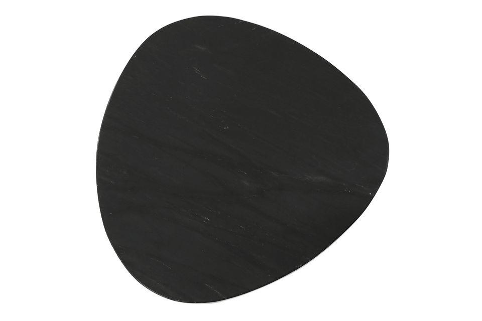 Set composto da 3 tavolini in marmo nero