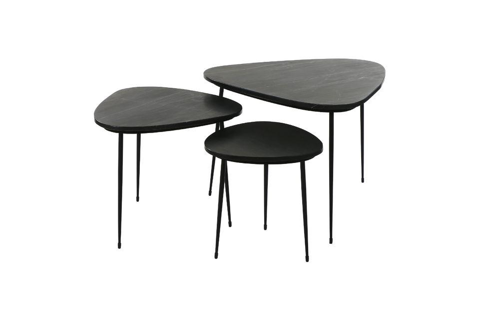 Serie di 3 Axio tavolini in marmo