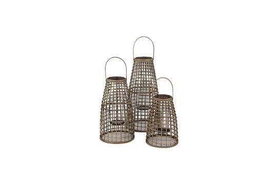 Serie di 3 Skagen lanterne di bambù