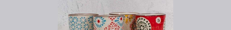 Materiali prima di tutto Serie di 4 Bohemian tazze per espresso