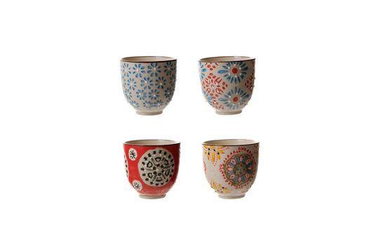 Serie di 4 Bohemian tazze per espresso