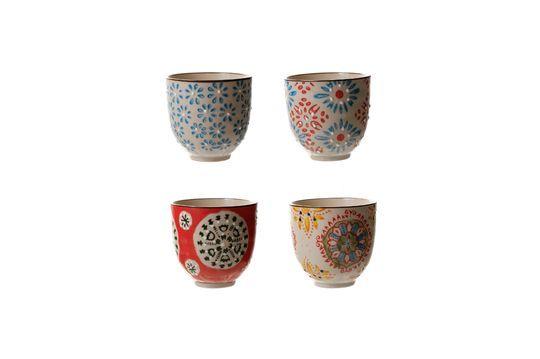 Serie di 4 Bohemian tazze per espresso Foto ritagliata