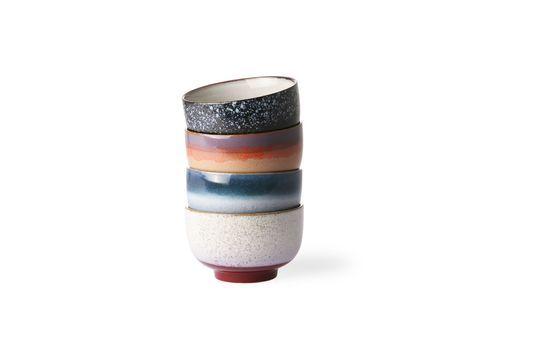 Serie di 4 ciotole in ceramica anni '70 Foto ritagliata