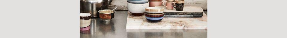 Materiali prima di tutto Serie di 4 tazze per cappuccino in ceramica anni '70