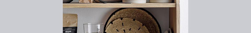 Materiali prima di tutto Set di 2 piatti decorativi Domblans naturali