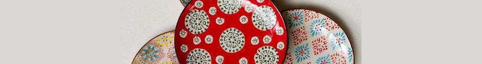 Materiali prima di tutto Set di 4 Bohemian piatti in ceramica
