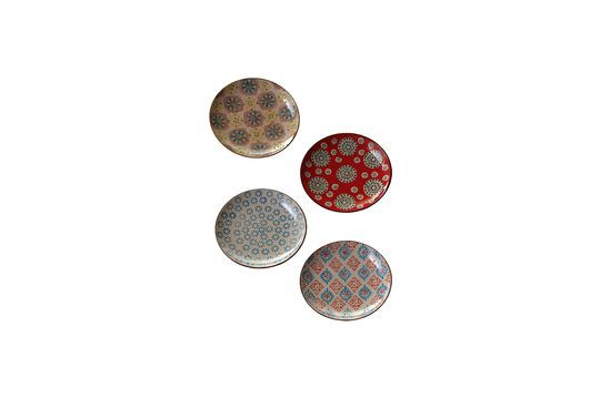 Set di 4 Bohemian piatti in ceramica Foto ritagliata