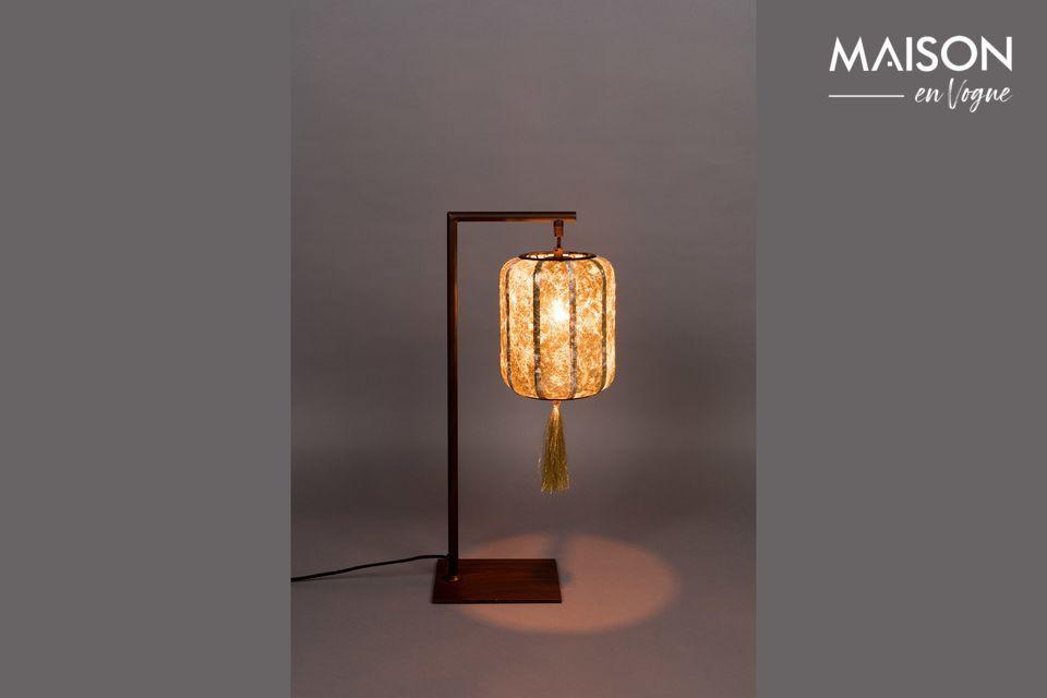 Suoni Lampada Da Tavolo Oro Dutch Bone 60cm Maison En Vogue