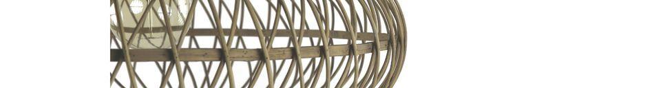 Materiali prima di tutto Tao lampada a sospensione in bambù