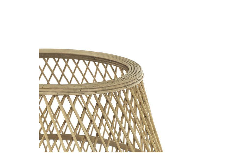 Bella lampada di bambù naturale
