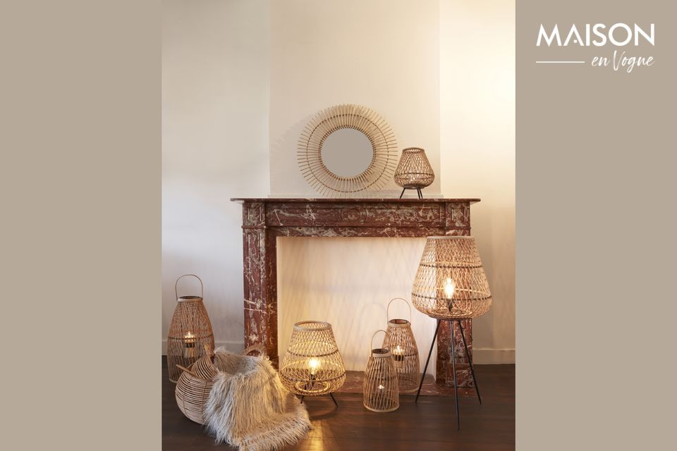 Portate un tocco di ispirazione coloniale con questa lampada in bambù