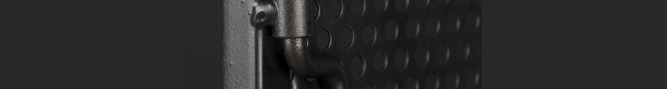 Materiali prima di tutto Texas Armadietto in metallo nero