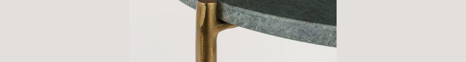 Materiali prima di tutto Timpa Tavolino in marmo verde
