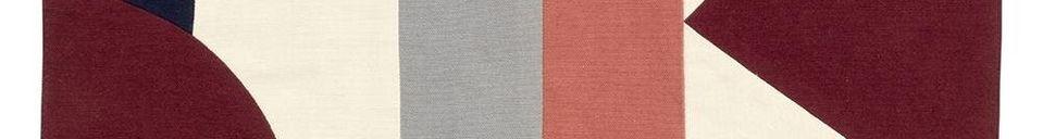 Materiali prima di tutto Tovaglietta patchwork 33 x 48 cm in cotone rosa