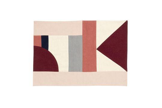 Tovaglietta patchwork 33 x 48 cm in cotone rosa