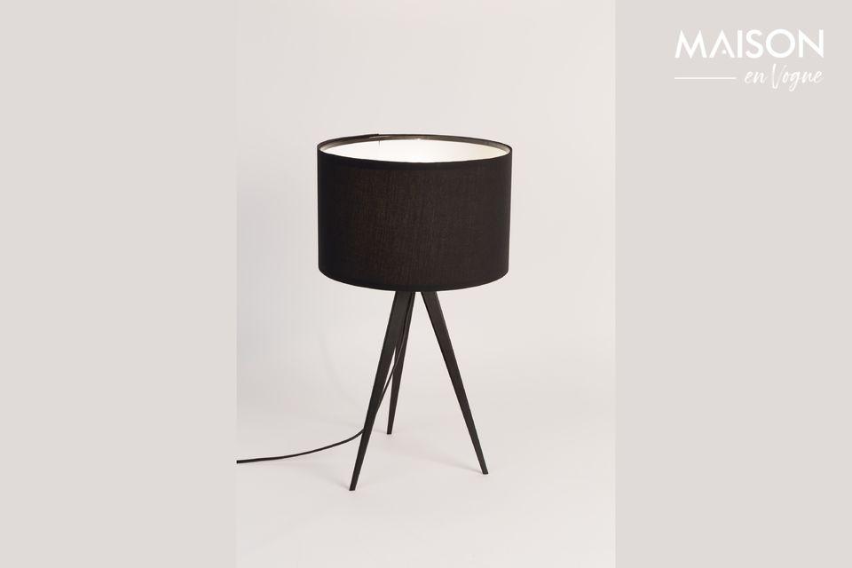 Tripod lampada da tavolo nera - 4