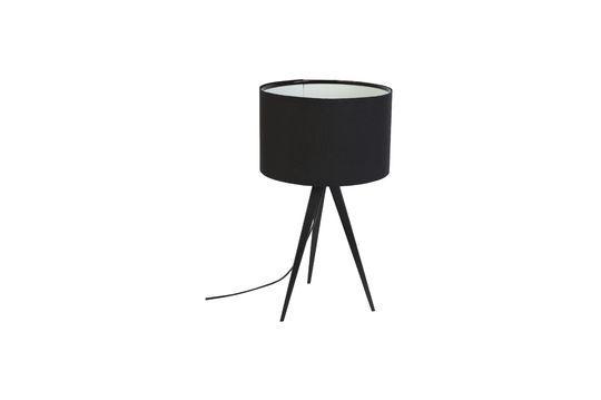 Tripod lampada da tavolo nera Foto ritagliata