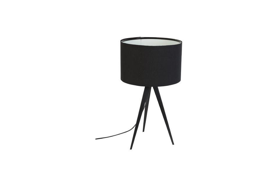 Tripod lampada da tavolo nera - 5