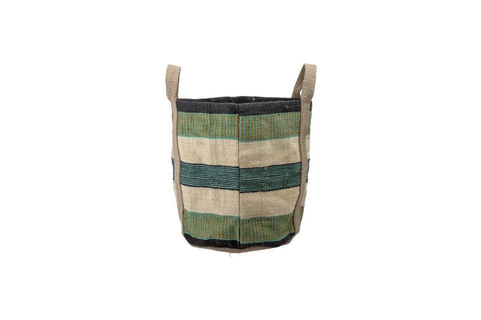Questa robusta borsa di iuta vi permetterà di trasportare tutto ciò di cui avete bisogno ogni