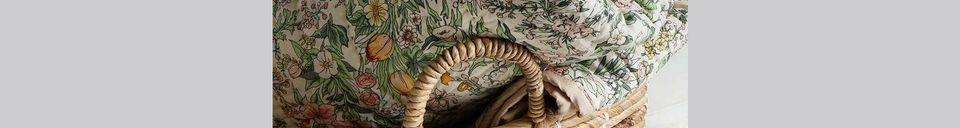 Materiali prima di tutto Vaulx Tappeto trapuntato a fiori
